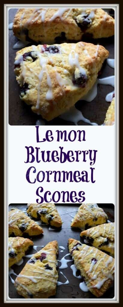 Lemon Blueberry Cornmeal Scones - She loves biscotti
