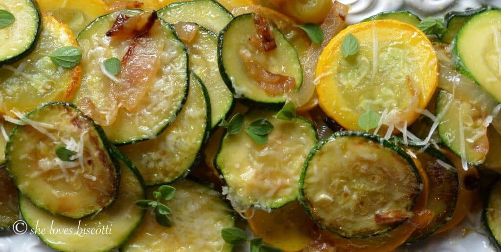 Italian Style Sauteed Onion and Zucchini Rounds