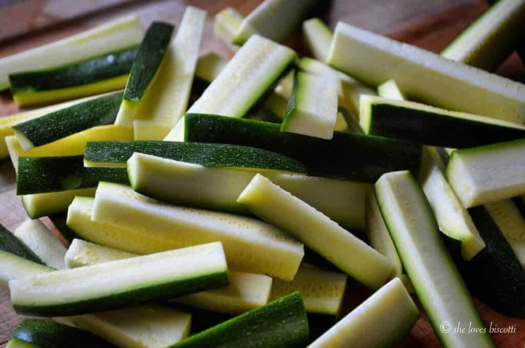 Baked Parmesan Encrusted Zucchini Sticks