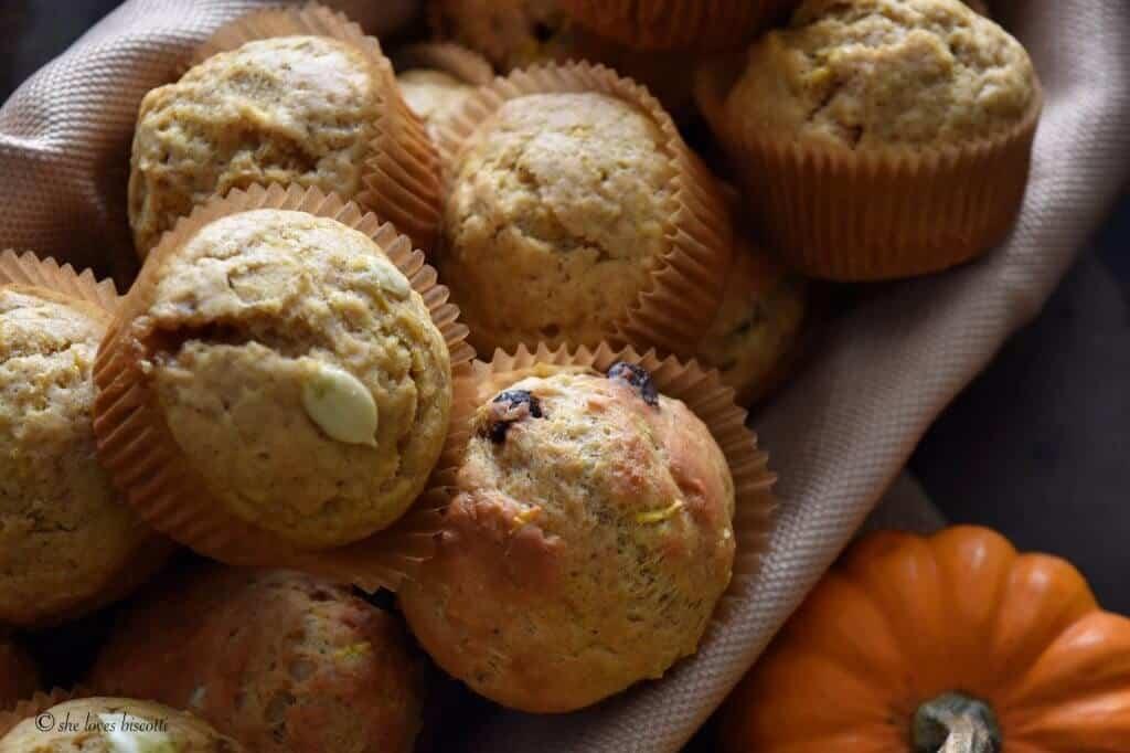 Dark Chocolate Chip Pumpkin Muffins