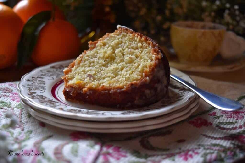 Glazed Orange Almond Bundt Cake