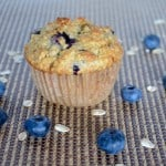 A Healthy Blueberry Oat Muffin -Absolute goodness in every morsel.