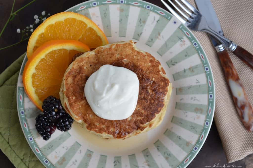 Quick Easy Oatmeal Pancakes
