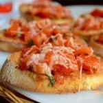 Tomato Basil Oregano Bruschetta