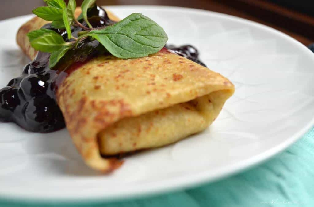 Homemade Cheese Blintzes