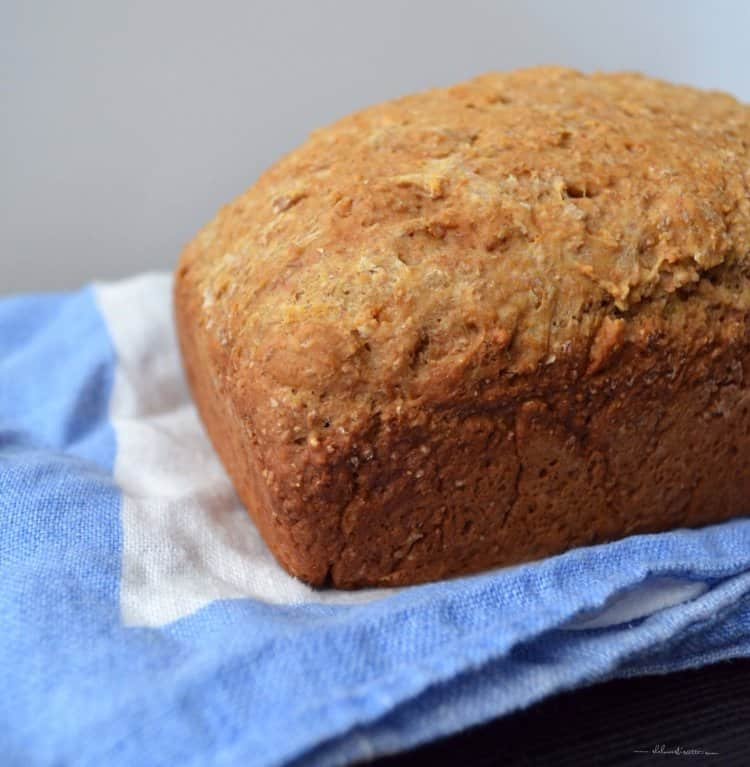 A loaf of Whole Wheat Honey Bread.