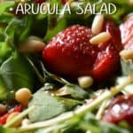 Strawberries, arugula and pine nuts drizzled with a balsamic vinaigrette.