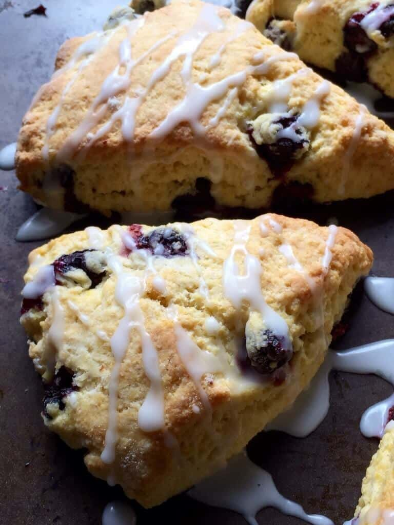 Lemon Blueberry Cornmeal Scones