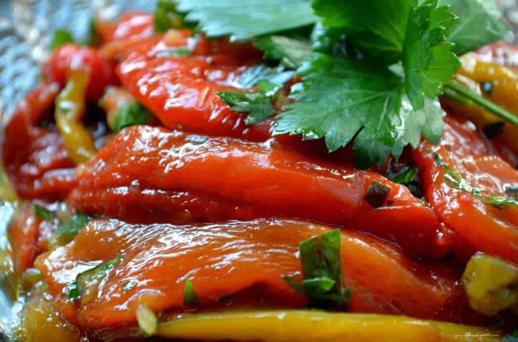 Marinated Roasted Bell Peppers - She loves biscotti