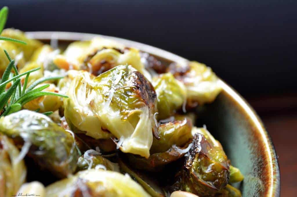 Oven Roasted Garlic Brussel Sprouts