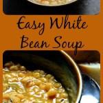 A bowl of white bean soup.