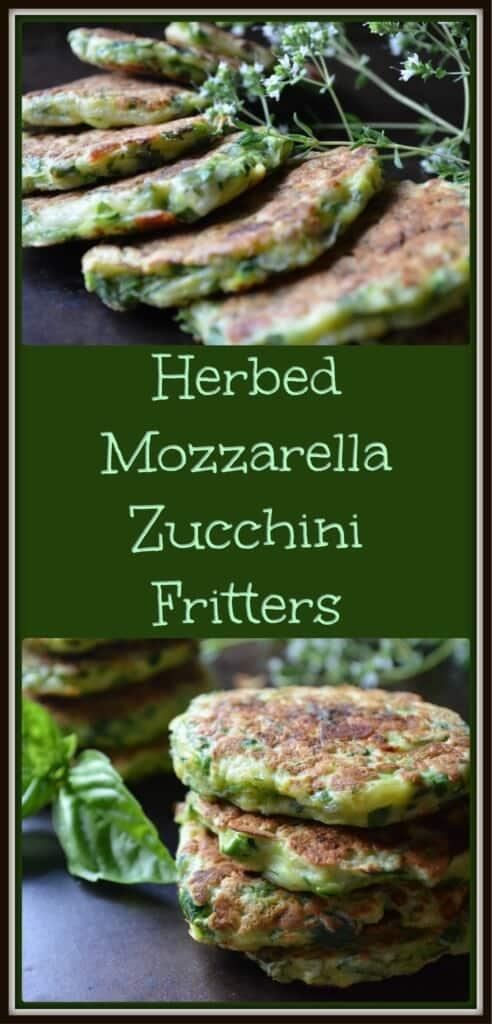 Herbed Mozzarella Zucchini Fritters
