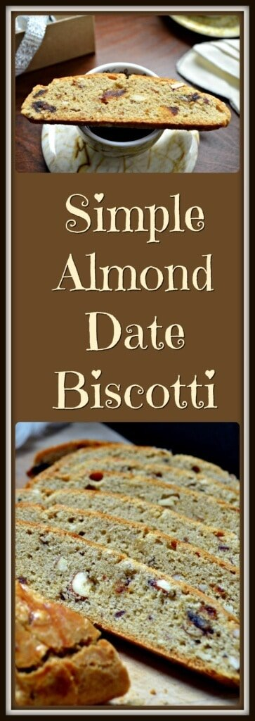 Simple Almond Date Biscotti