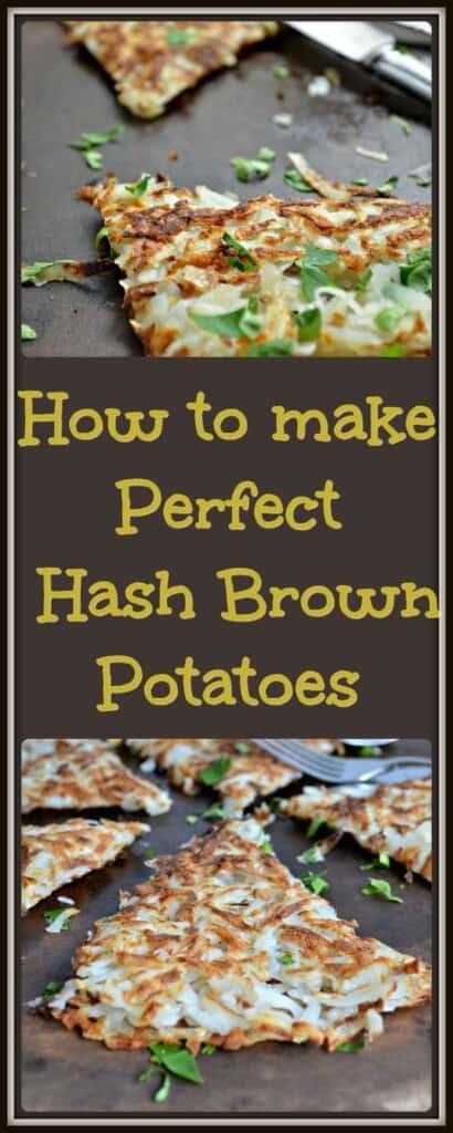 Perfect Hash Brown Potatoes