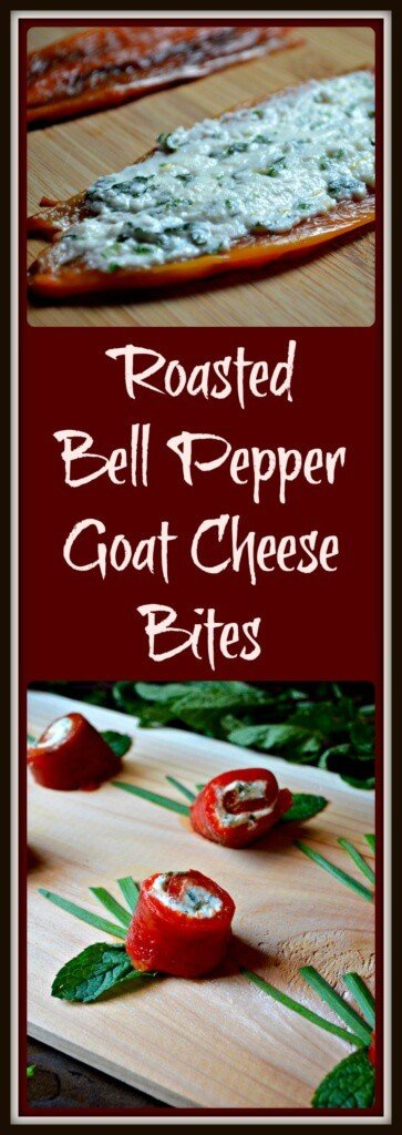 Roasted Bell Pepper Goat Cheese Bites
