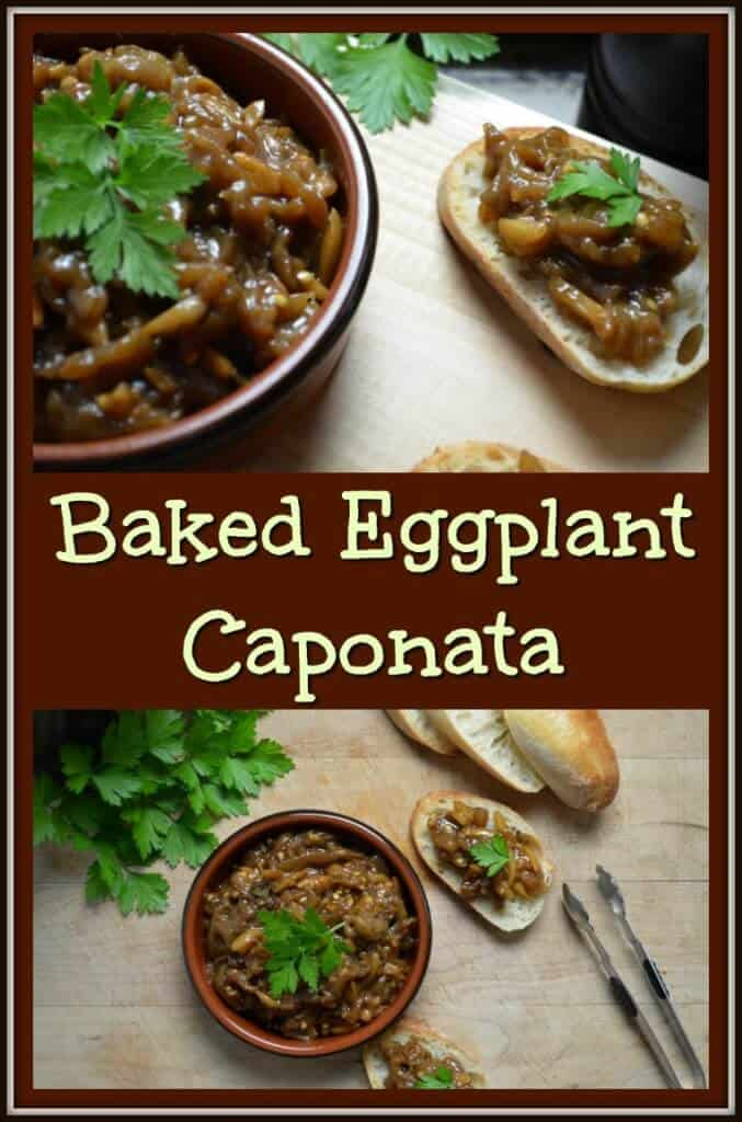 Lina's Baked Eggplant Caponata