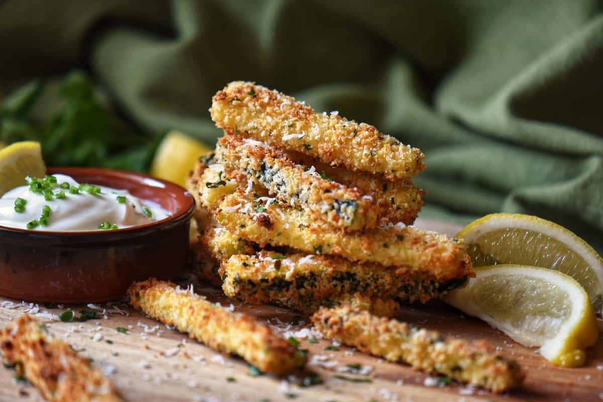 Baked Zucchini Sticks (Oven or Air Fryer)