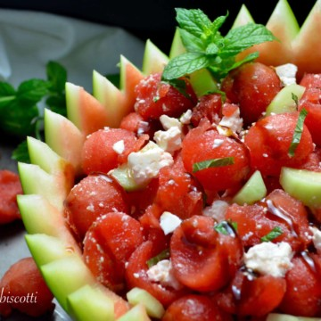 Easy Watermelon Feta Mint Salad