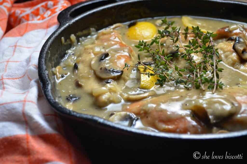 Easy One Pot Lemon Thyme Chicken Breasts