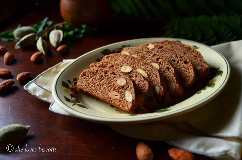 Simple Classic Italian Honey Almond Cocoa Biscotti