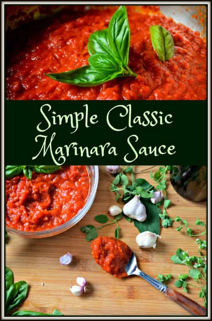 Simple Classic Marinara Sauce Recipe