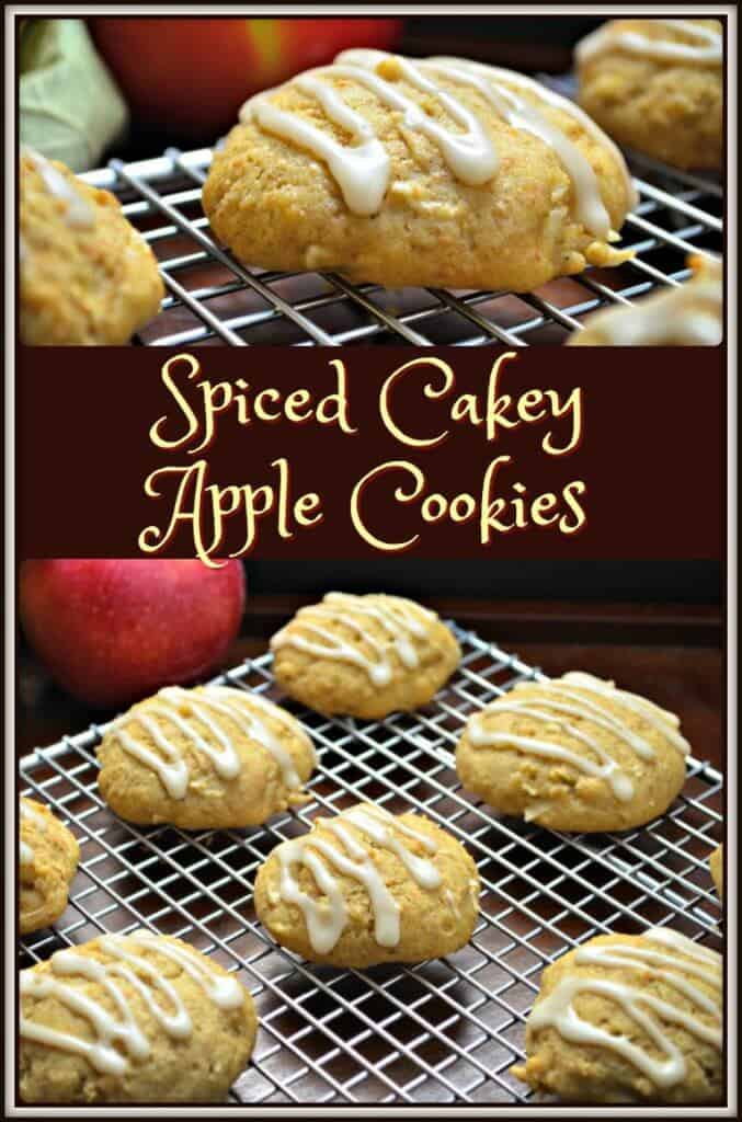 Spiced Cakey Apple Cookies