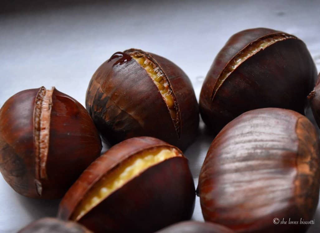 Perfectly roasted chestnuts.