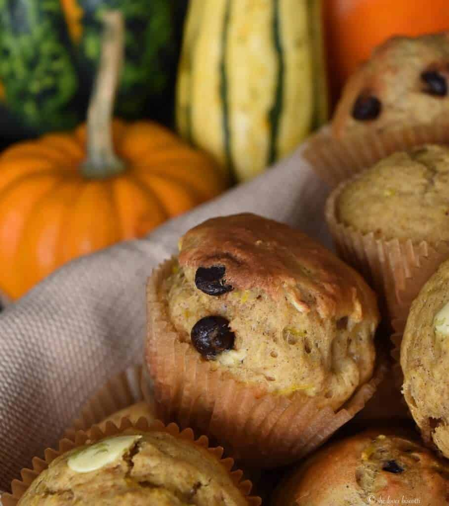 Dark Chocolate Chip Pumpkin Muffins
