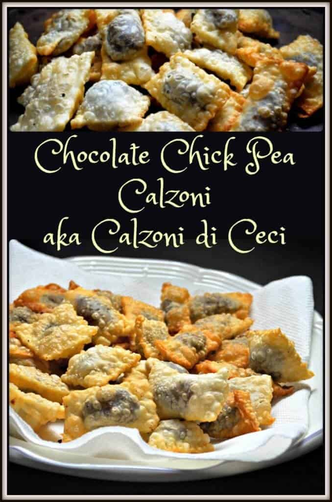 Chocolate Chick Pea Calzoni aka Calzoni di Ceci