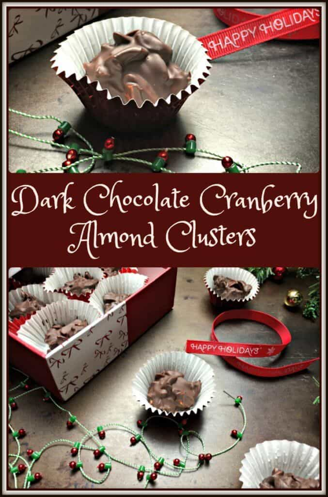 Dark Chocolate Cranberry Almond Clusters