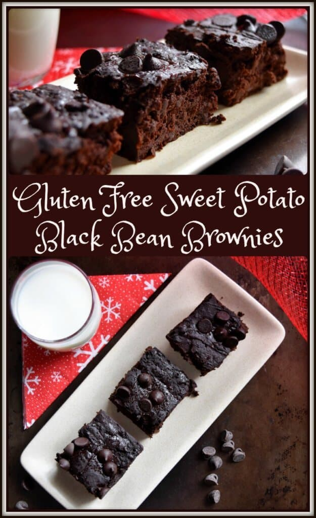 Gluten Free Sweet Potato Black Bean Brownies