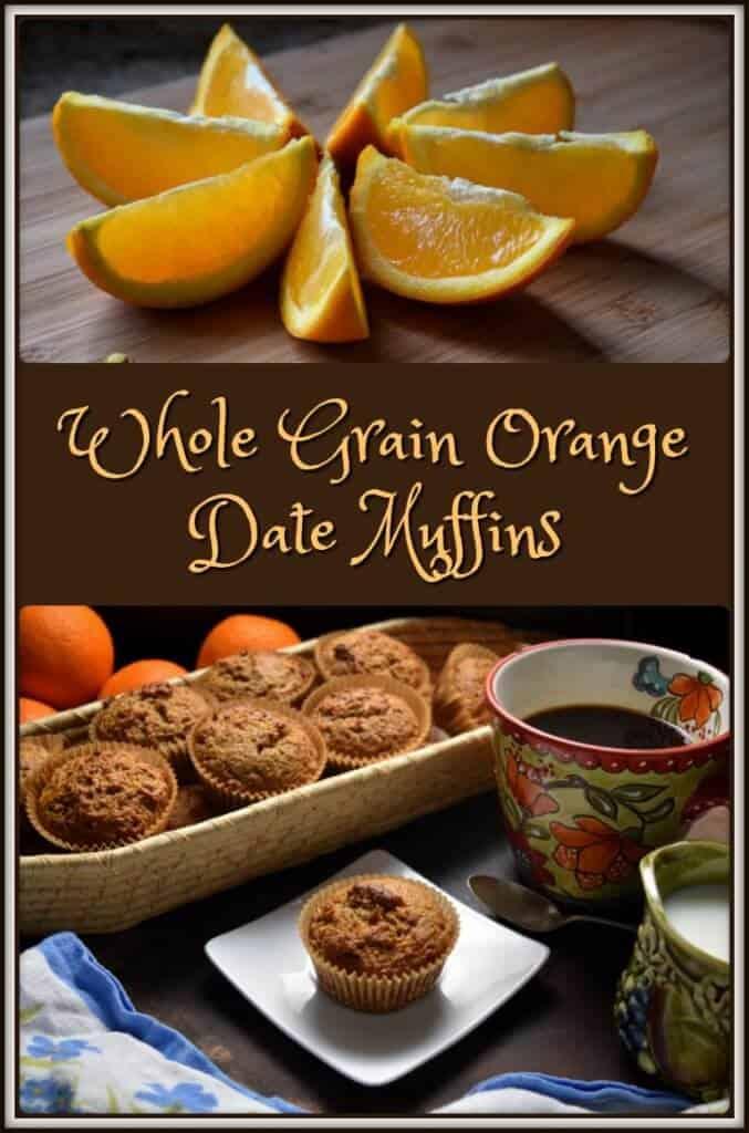 Easy Whole Grain Orange Date Muffins