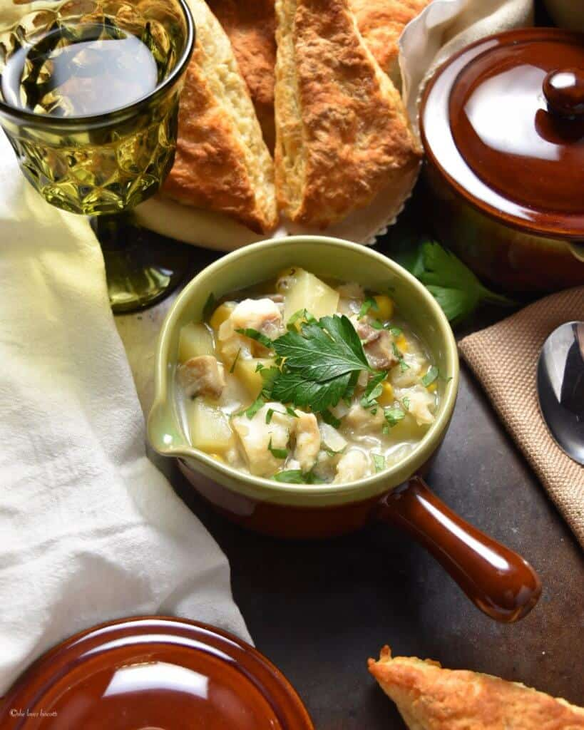 Healthy Chunky Vegetable Fish Chowder