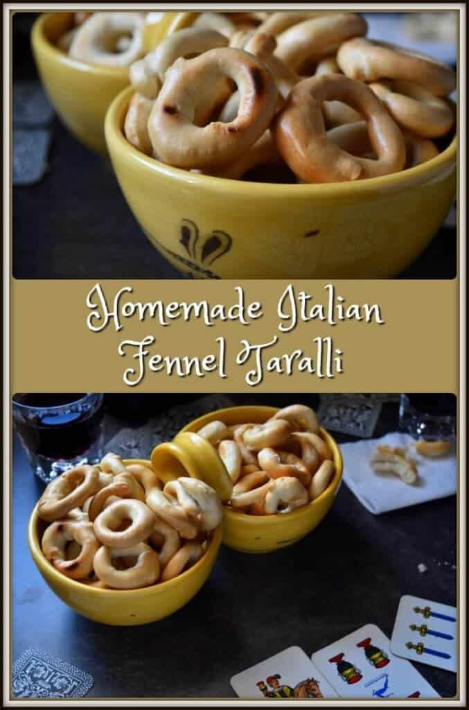Homemade Italian Fennel Taralli da Tavo