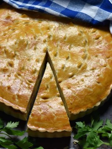 Easy Italian Pizza Rustica aka Easter Pie Recipe