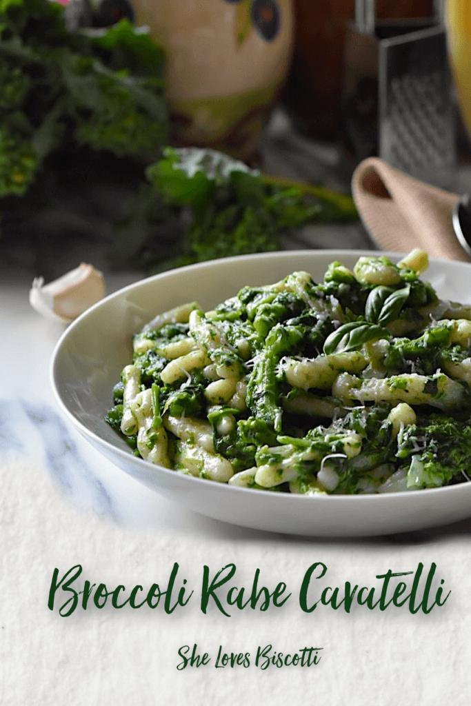Homemade Italian Broccoli Rabe Cavatelli Pasta