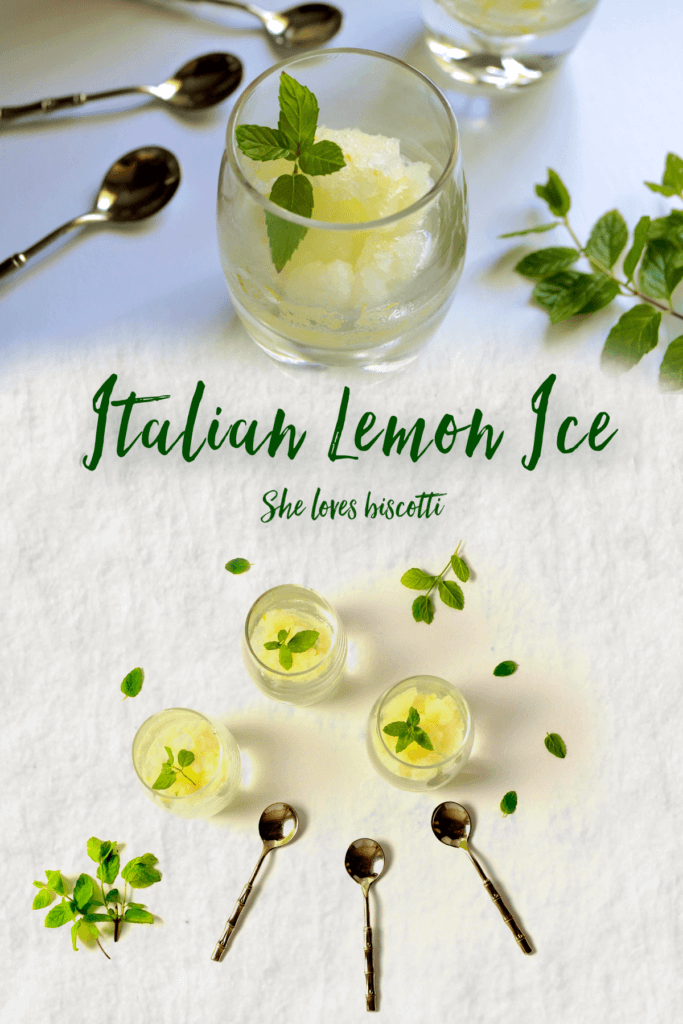 Homemade Italian Lemon Ice
