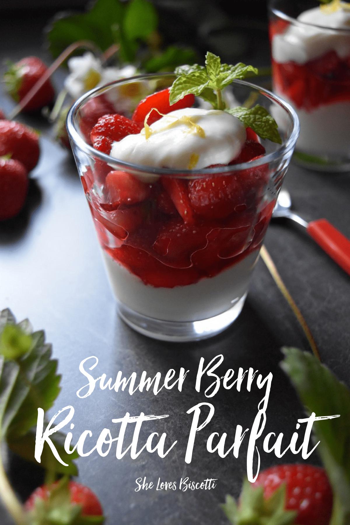 Easy Summer Berry Honey Whipped Ricotta Parfait