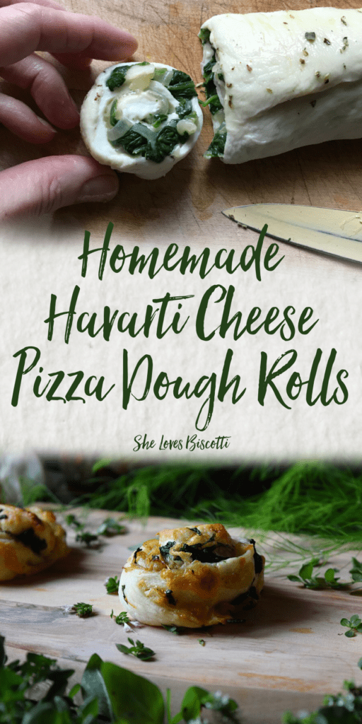 Homemade Havarti Cheese Pizza Dough Rolls