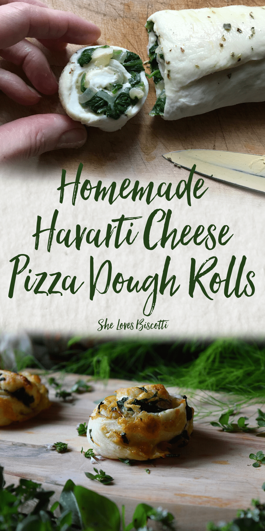 Homemade Havarti Cheese Pizza Dough Rolls