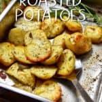 Crispy Italian Oven Roasted Garlic Potatoes