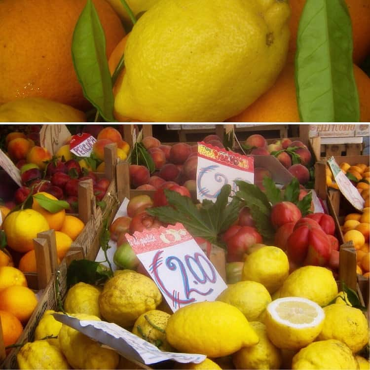 Sorrento lemons for sale in Sorrento.
