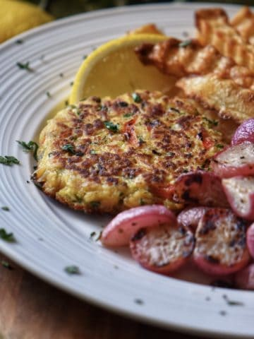 A platter of the Tuna Patty Recipe