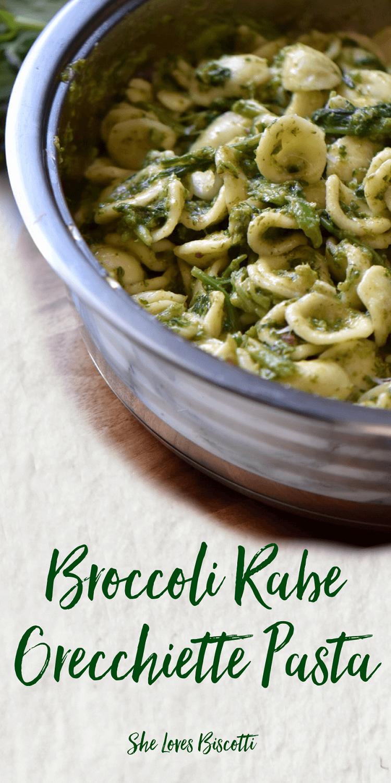 Italian Broccoli Rabe Orecchiette Pasta Recipe || Main course || 30 minute meal || #broccolirabe #orecchiette #puglia #bari #evoo #quickmeal #30minutemeal