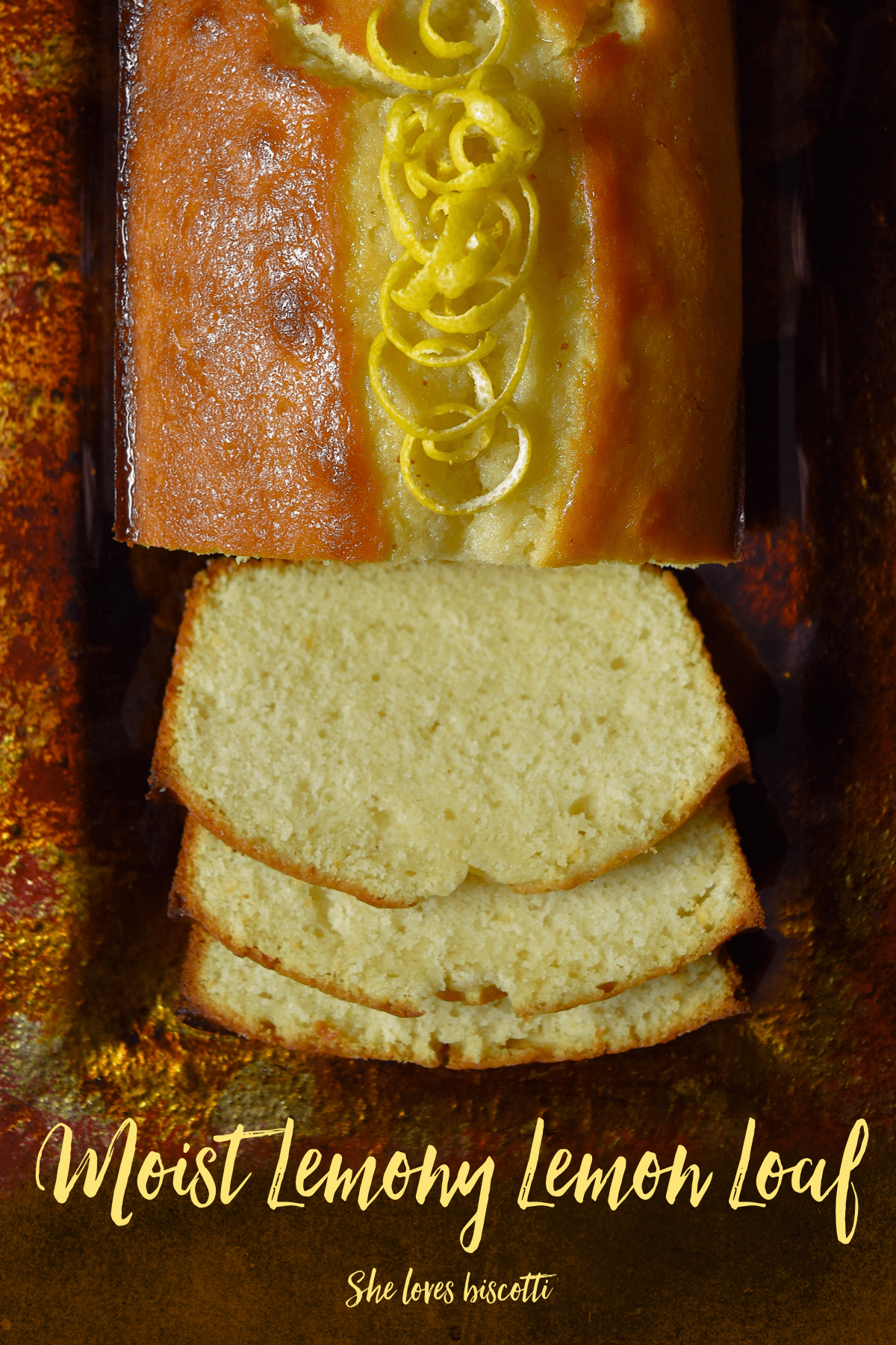 Extra Moist Lemony Lemon Loaf: This will quickly become your go to recipe for lemon loaf! #shelovesbiscotti #lemonloaf #betterthanstarbucks #lemoncake #lemon #lemoncake #dessert #lemondessert