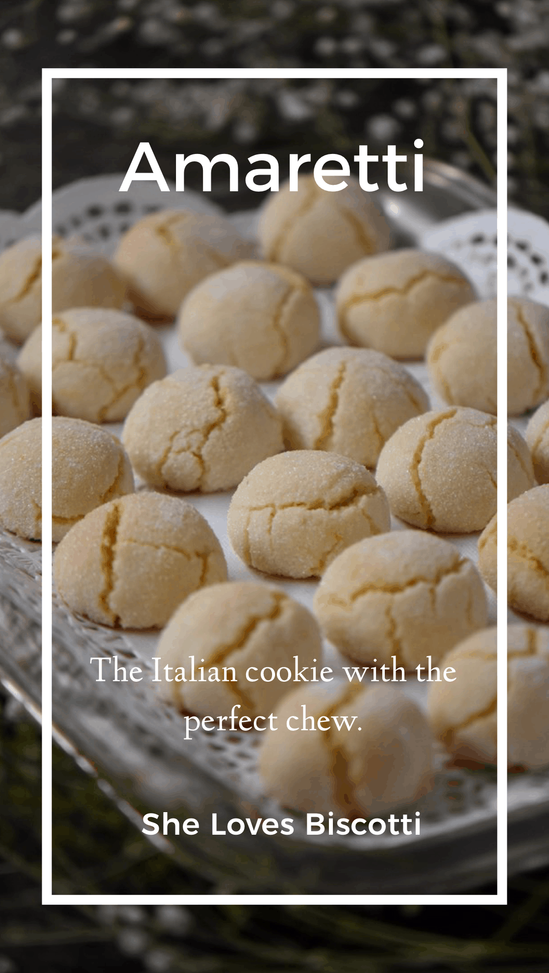 Did you ever think it was possible to make Soft Amaretti Cookies just like the ones that you find in Italian bakeries?  Come and see how easy these glutenfree cookies are to make.  #amaretti  #holiday #baking #Italian #christmascookie #cookies #hostessgift #amaretti #Italiancookies #almondflour #almonds #amarettibiscuits #amarettimorbidi