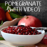 A bowl of pomegranate seeds.