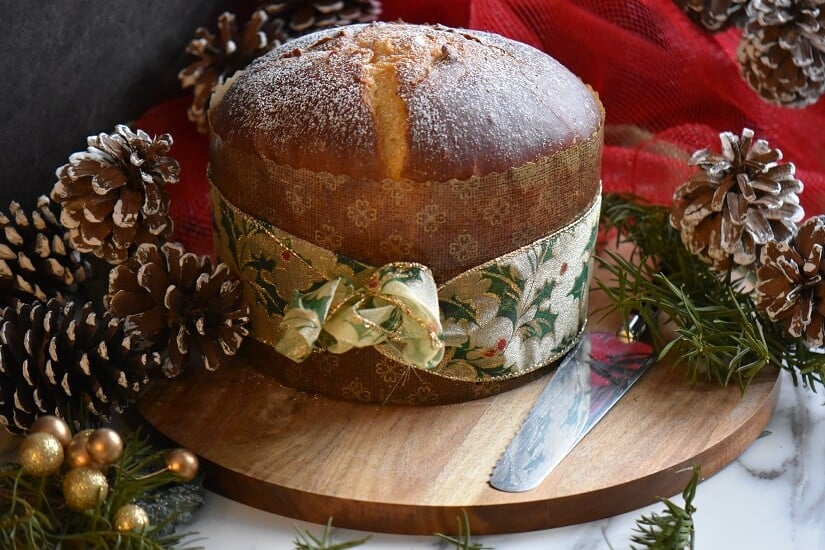 Panettone is all wrapped up.