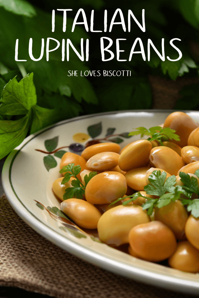 A plate of Italian Lupini beans,