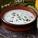 A bowl of Best Homemade Garlic Yogurt Sauce